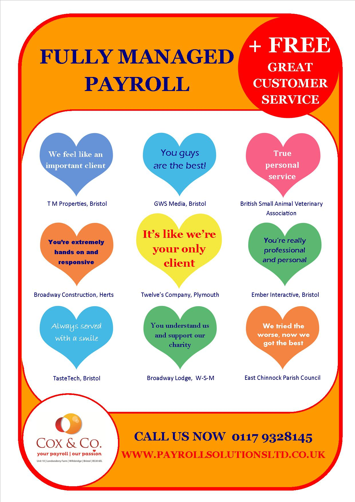 9 great payroll customer service comments from our clients