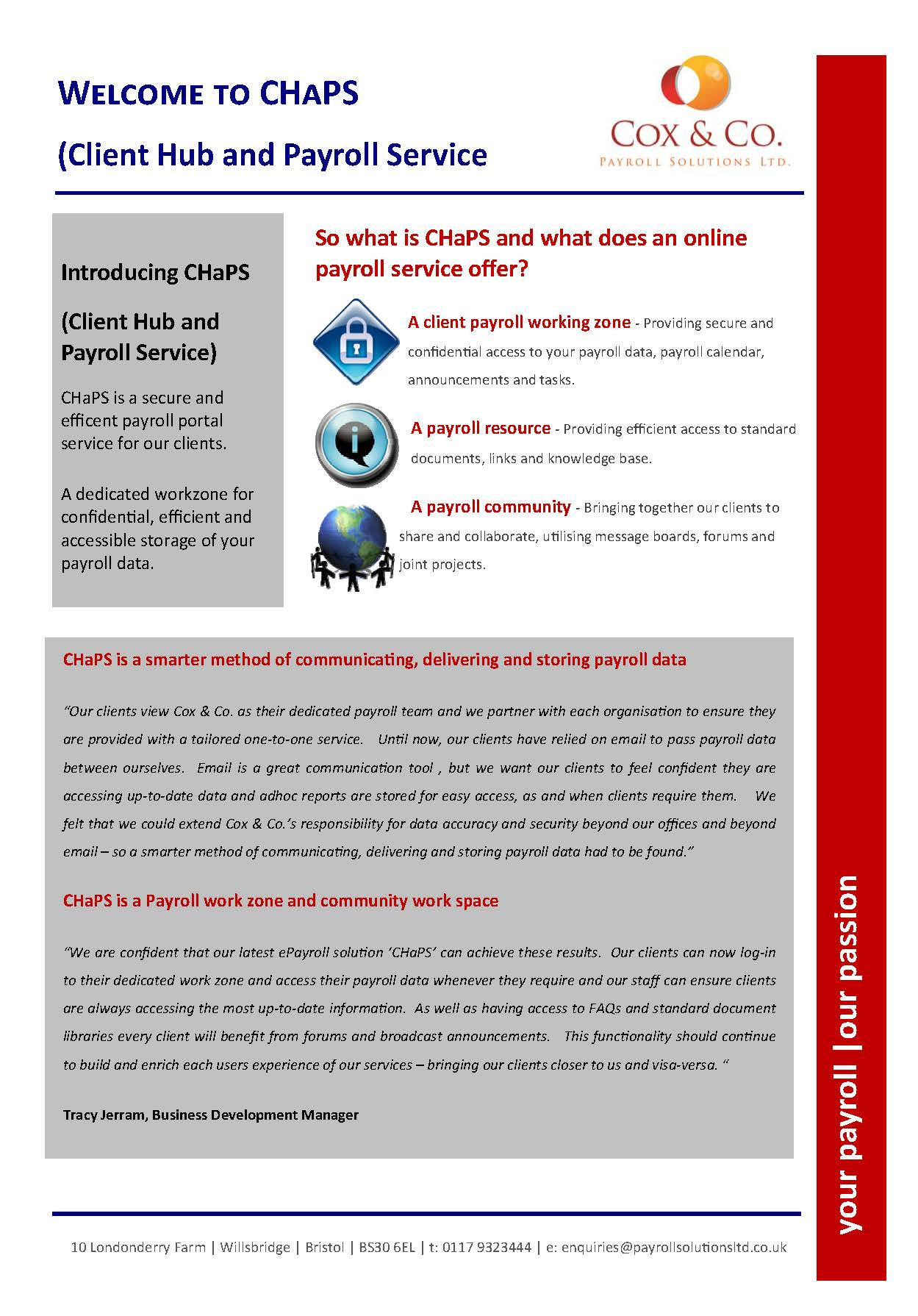 ePayroll portal is here - Welcome to CHaPS